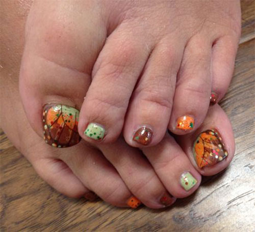 Autumn-Toe-Nail-Art-Designs-Ideas-2018-Fall- - Autumn Toe Nail Art Designs & Ideas 2018 Fall Nails Fabulous