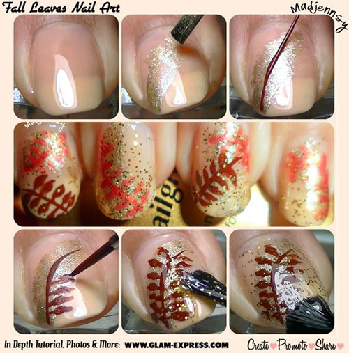 Easy-Autumn-Nail-Art-Tutorials-For-Beginners-2018-7