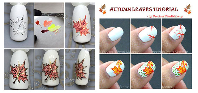 Easy-Autumn-Nail-Art-Tutorials-For-Beginners-2018-F