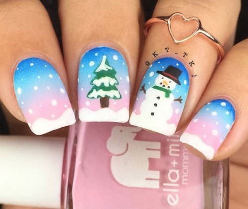 12-Christmas-Snowman-Nail-Art-Designs-Ideas-2018-Xmas-Nails-1