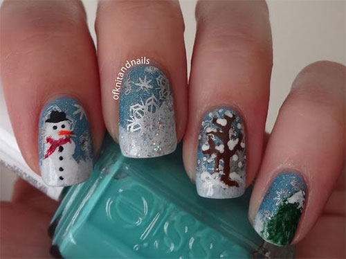12-Christmas-Snowman-Nail-Art-Designs-Ideas-2018-Xmas-Nails-10