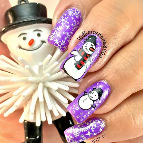 12-Christmas-Snowman-Nail-Art-Designs-Ideas-2018-Xmas-Nails-3