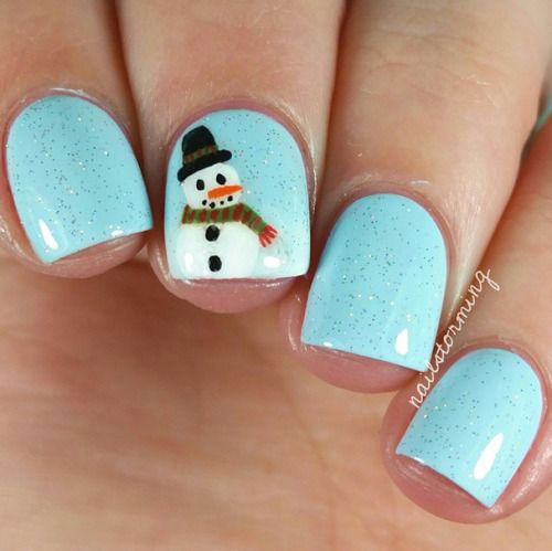 12-Christmas-Snowman-Nail-Art-Designs-Ideas-2018-Xmas-Nails-6