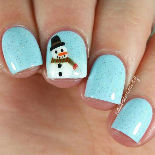 12-Christmas-Snowman-Nail-Art-Designs-Ideas-2018-Xmas-Nails-6