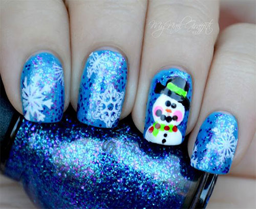 12-Christmas-Snowman-Nail-Art-Designs-Ideas-2018-Xmas-Nails-7