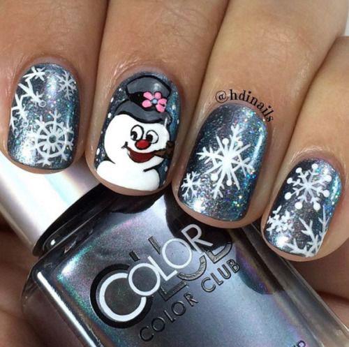 12-Christmas-Snowman-Nail-Art-Designs-Ideas-2018-Xmas-Nails-8