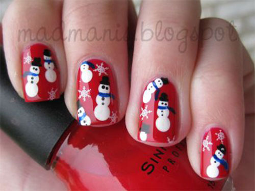 12-Christmas-Snowman-Nail-Art-Designs-Ideas-2018-Xmas-Nails-9