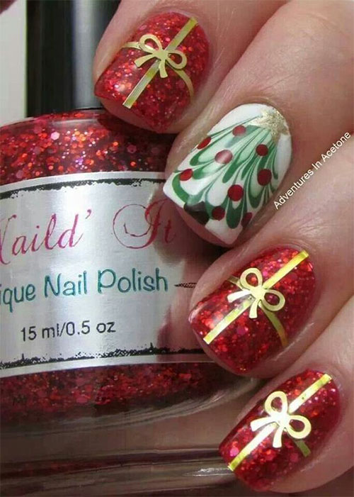 15-Christmas-Present-Nail-Art-Designs-&-Ideas-2018-Xmas-Nails-1