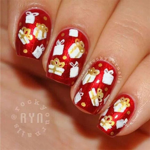15-Christmas-Present-Nail-Art-Designs-&-Ideas-2018-Xmas-Nails-6