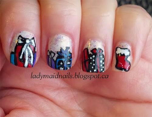 15-Christmas-Present-Nail-Art-Designs-&-Ideas-2018-Xmas-Nails-7
