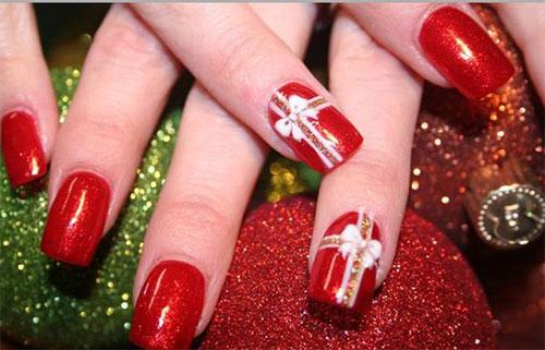 15-Christmas-Present-Nail-Art-Designs-&-Ideas-2018-Xmas-Nails-8