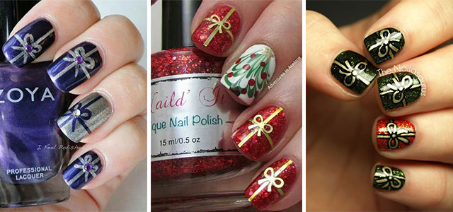 15-Christmas-Present-Nail-Art-Designs-&-Ideas-2018-Xmas-Nails-F