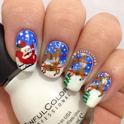 15-Christmas-Santa-Nail-Art-Designs-Ideas-2018-Xmas-Nails-6