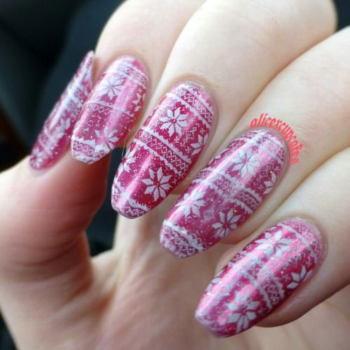 15-Ugly-Christmas-Sweater-Nail-Art-Designs-Ideas-2018-11