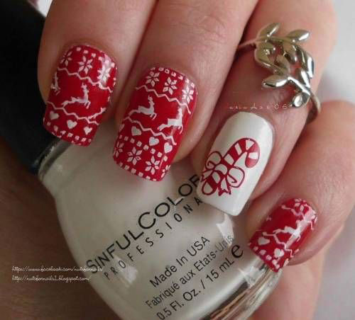 15-Ugly-Christmas-Sweater-Nail-Art-Designs-Ideas-2018-12