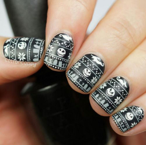 15-Ugly-Christmas-Sweater-Nail-Art-Designs-Ideas-2018-3