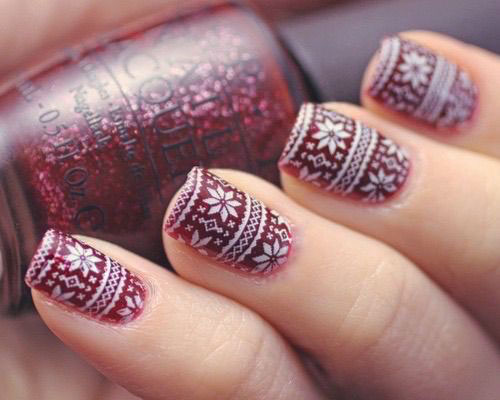 15-Ugly-Christmas-Sweater-Nail-Art-Designs-Ideas-2018-8