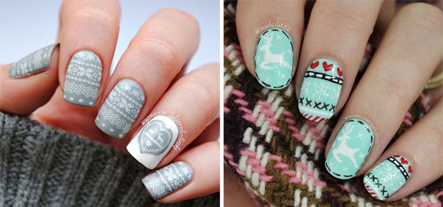 15-Ugly-Christmas-Sweater-Nail-Art-Designs-Ideas-2018-F