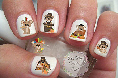 Awesome-Thanksgiving-Nail-Decals-Stickers-2018-1
