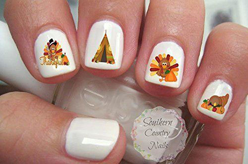 Awesome-Thanksgiving-Nail-Decals-Stickers-2018-2