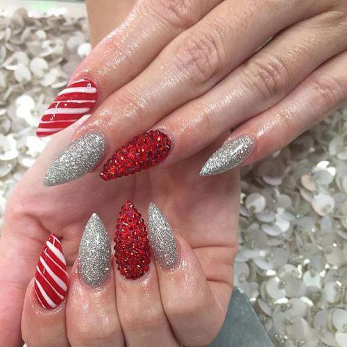 Christmas-Glitter-Acrylic-Nail-Art-Designs-2018-Xmas-Nails-14