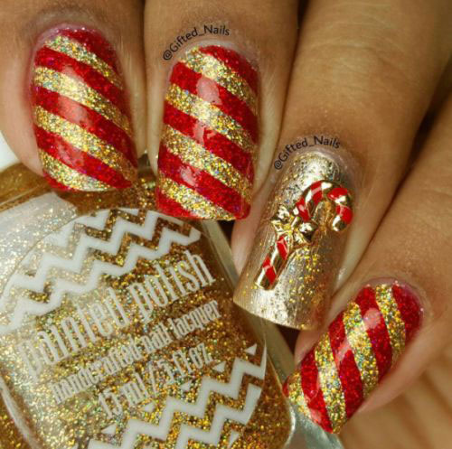 Christmas-Glitter-Acrylic-Nail-Art-Designs-2018-Xmas-Nails-4