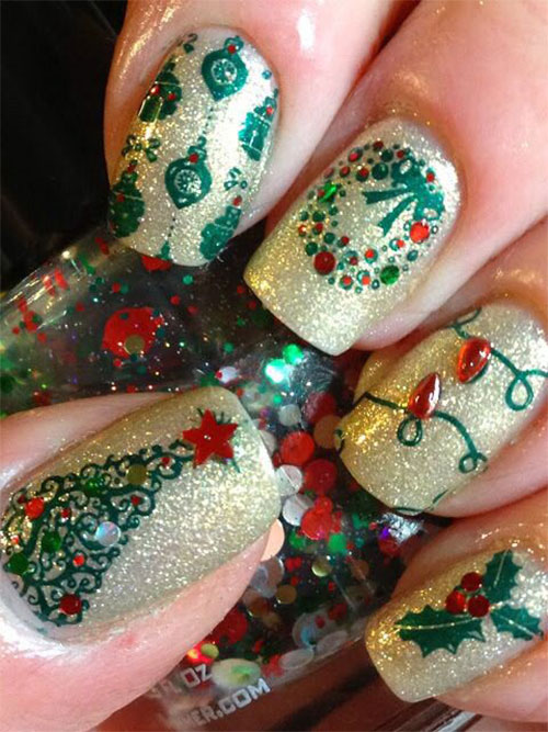 Christmas-Glitter-Acrylic-Nail-Art-Designs-2018-Xmas-Nails-7