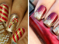 Christmas-Glitter-Acrylic-Nail-Art-Designs-2018-Xmas-Nails-F