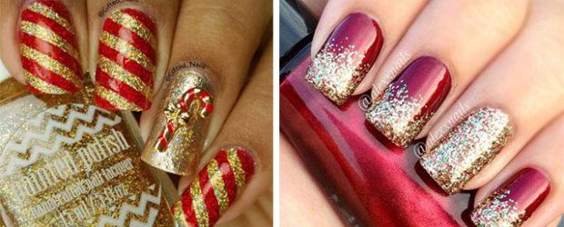 Christmas-Glitter-Acrylic-Nail-Art-Designs-2018-Xmas-Nails-F