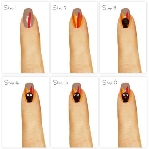 Easy-Simple-Thanksgiving-Nails-Tutorials-For-Beginners-2018- - Easy & Simple Thanksgiving Nails Tutorials For Beginners 2018