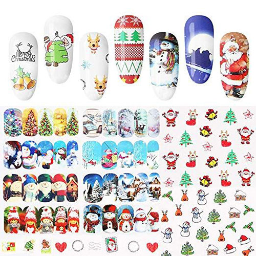 18-Cute-Christmas-Nail-Art-Stickers-Decals-2018-13