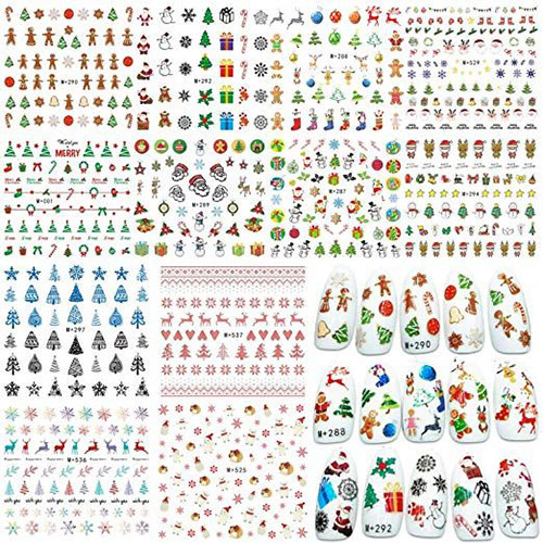 18-Cute-Christmas-Nail-Art-Stickers-Decals-2018-17