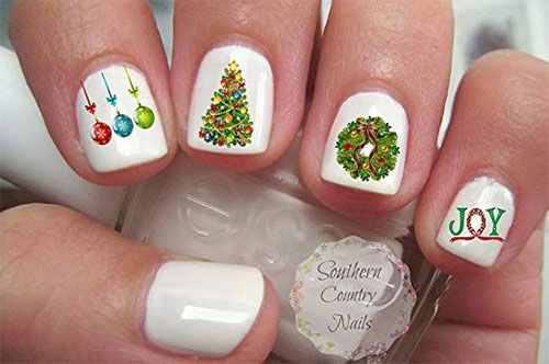18-Cute-Christmas-Nail-Art-Stickers-Decals-2018-2
