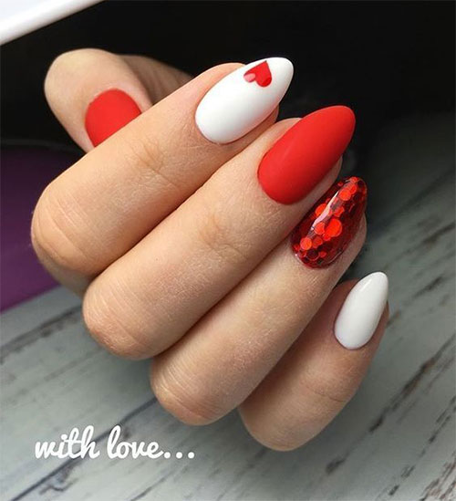 15-Easy-Valentine's-Day-Nail-Art-Designs-Ideas-2019-Vday-Nails-14