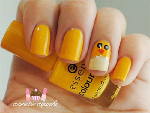 15-Easter-Chick-Nails-Art-Designs-Ideas-2019-13