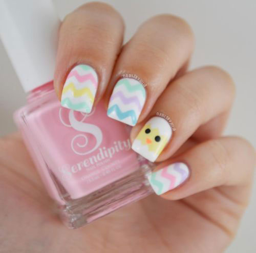 15-Easter-Chick-Nails-Art-Designs-Ideas-2019-14