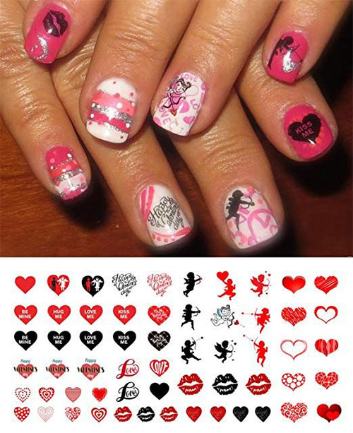 15-Step-By-Step-Valentines-Day-Nail-Art-Tutorials-For-Learners-2019-1