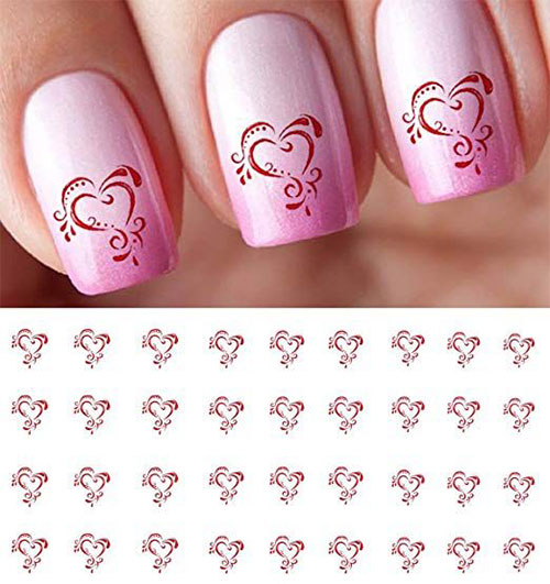 15-Step-By-Step-Valentines-Day-Nail-Art-Tutorials-For-Learners-2019-3