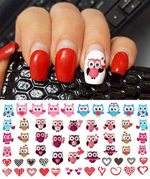 15-Step-By-Step-Valentines-Day-Nail-Art-Tutorials-For-Learners-2019-5