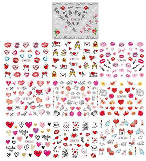 15-Step-By-Step-Valentines-Day-Nail-Art-Tutorials-For-Learners-2019-8