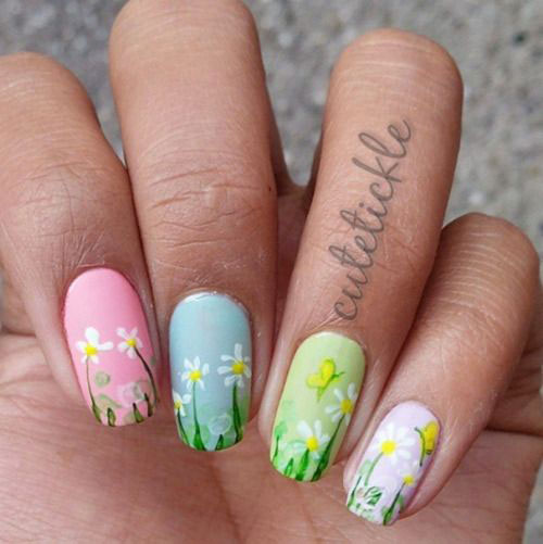 20-Spring-Floral-Nails-Art-Designs-Ideas-2019-14