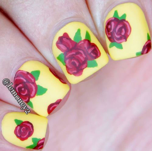 20-Spring-Floral-Nails-Art-Designs-Ideas-2019-3