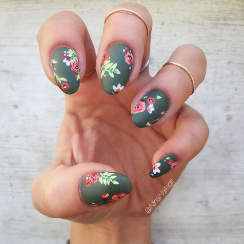 20 Spring Floral Nails Art Designs & Ideas 2019