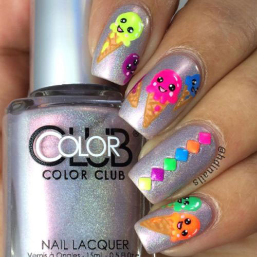 15-Neon-Summer-Nails-Art-Designs-Ideas-2019-3