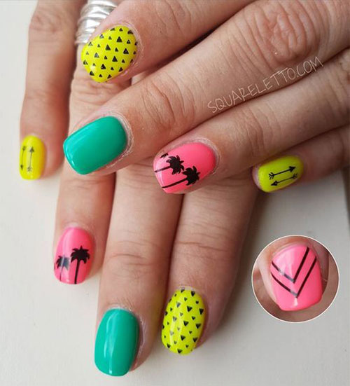 15-Neon-Summer-Nails-Art-Designs-Ideas-2019-9