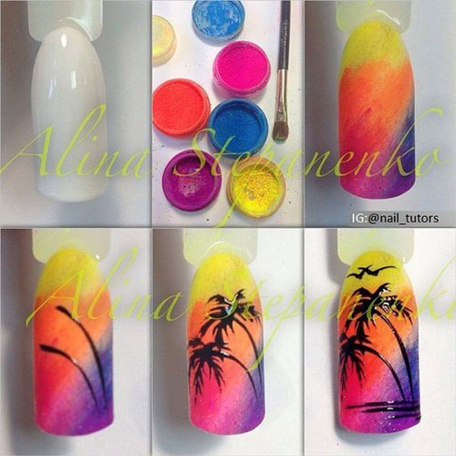 18-Easy-Summer-Nail-Art-Tutorials-For-Beginners-2019-10