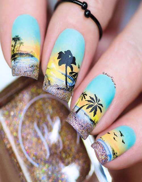 18-Summer-Beach-Nails-Art-Designs-Ideas-2019-13