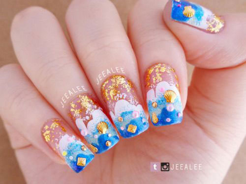 18-Summer-Beach-Nails-Art-Designs-Ideas-2019-14