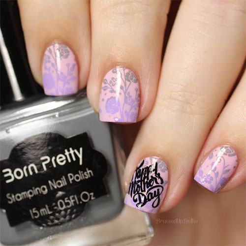 20-Best-Mother's-Day-Nails-Art-Designs-Ideas-2019-14