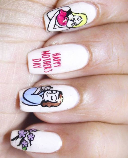 20-Best-Mother's-Day-Nails-Art-Designs-Ideas-2019-15